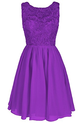 Dresstore Women's Lace Bridesmaid Formal Short Homecoming Dress