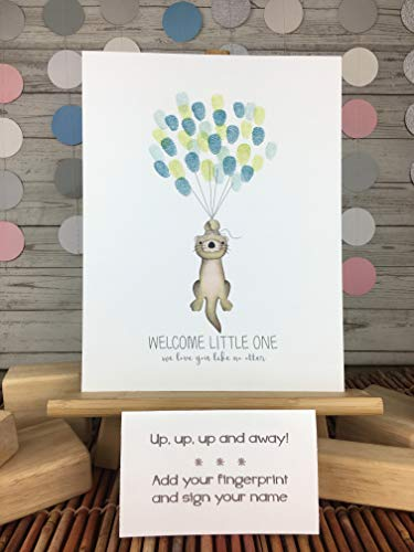 Customized Fingerprint Guestbook Alternative for an Otter themed event, baby shower ideas]()