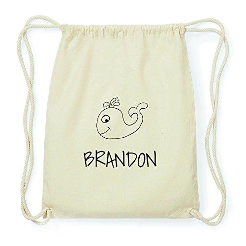 JOllipets BRANDON Hipster Turnbeutel Tasche Rucksack aus Baumwolle Design: Wal