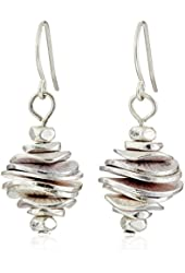 Kenneth Cole New York Silver-Tone Stacked Disc Drop Earrings