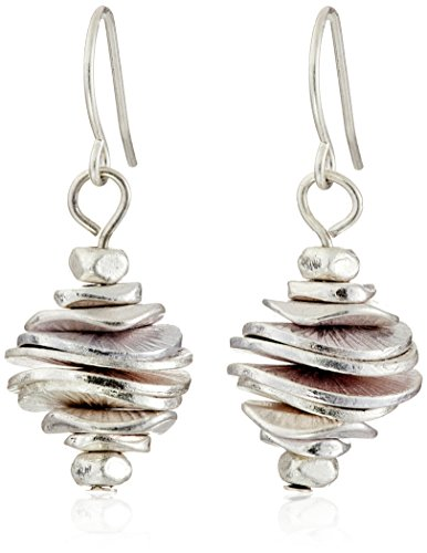 Silver Love Disc (Kenneth Cole New York Silver-Tone Stacked Disc Drop Earrings)