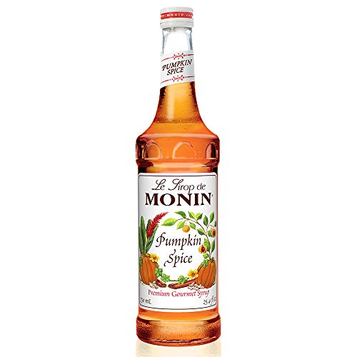 (Monin - Pumpkin Spice Syrup, Hints of Nutmeg and Cinnamon, Natural Flavors, Great for Lattes, Mochas, Steamers, Teas, Ciders and Dessert Cocktails, Vegan, Non-GMO, Gluten-Free (750 ml))