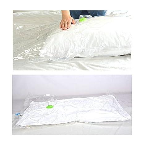 Quetzaly 5PCS Vacuum Storage Space Saver Bags Compression Bags with free Travel hand-pump funziona con qualsiasi aspirapolvere large 99,1/x 71,1/cm White