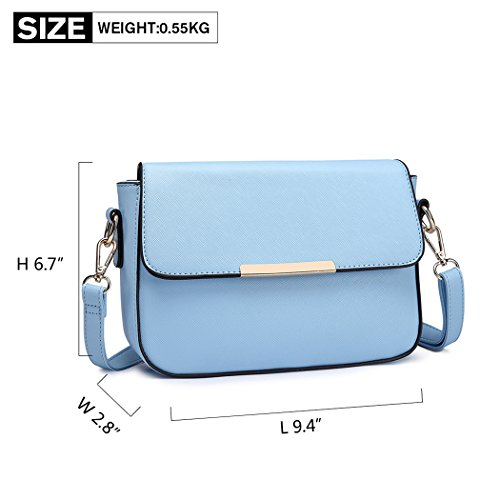 Lulu Women Miss Bag Handbags Small Blue Pu for Stylish Leather Shoulder Cross Body Bag dzrRzwq