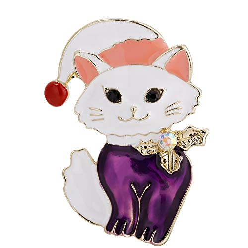 - VVANT Brooch for Women Lovely Cat Brooch Pin,Vintage Gifts for Birthday/Mother's Day/Daily (Cat Purple)