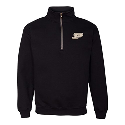 UGP Campus Apparel AQ07 - Purdue Boilermakers Primary Logo Left Chest Quarter Zip Sweatshirt - 3X-Large - - Fashion Logo Primary
