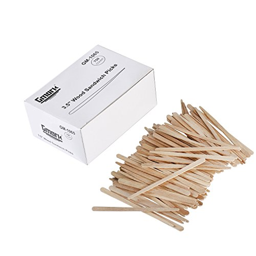 Wood Sandwich Picks Box of 750 ct, Eco-Friendly Biodegradable Compostable Wooden Sandwich Picks (750pcs/box) GM1065 by (Sandwich Picks)