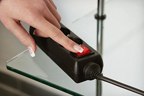 as - Schwabe 11672 6-fach-Steckdosenleiste schwarz 5m H05VV-F 3G1,5, IP20 Innenbereich