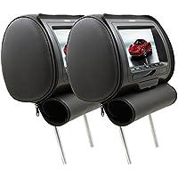 DS18 HPKG-9TBG Pair of Headrest Pillow 9 AV Monitors with Games, Joystick & Full Functional Remote