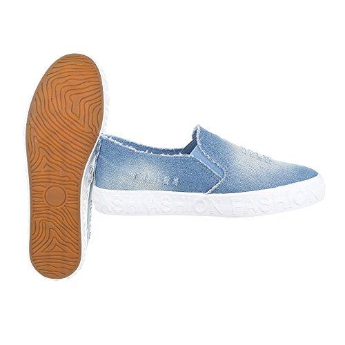 Ital-Design - Zapatillas de casa Mujer Hellblau KK-18