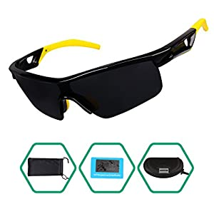 GARDOM Sunglasses for Kids, Polarized Glasses for Boys Girls Sports Sunglass Running Cycling Fishing Hiking