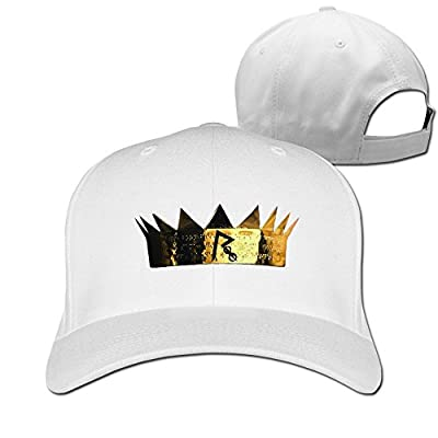 Shimile10 Adult Rihanna R Logo Adjustable Baseball Cap White