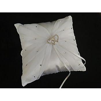 Amazon.com: Nuestra boda/Nuestra Boda Cojin para anillos de ...