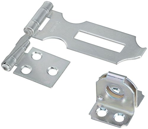 (Stanley Hardware S755-250 CD925 Fixed Staple Double Hinge Safety Hasp in Zinc plated)