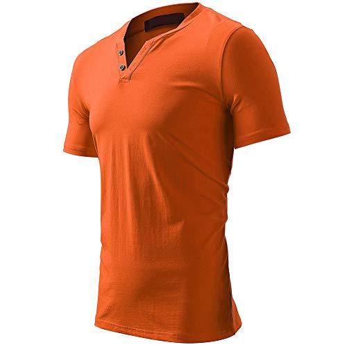 Camiseta Elegir Hombre Elástica Para Casual Múltiples Granate Colores Pico Con Manga Corta Harrms Botones De Cuello d6xwtagq