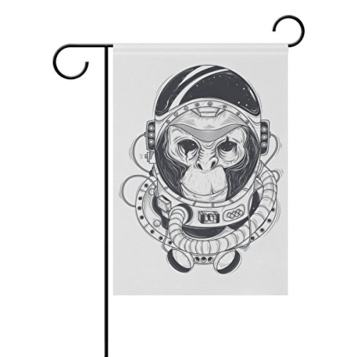 Blue Viper Monkey Astronaut In Space Suit Garden Flag Waterproof Polyester Fabric and Mildew Resistant for Outdoor Lawn and Garden Double Side Print 28 x 40 - Viper Suit
