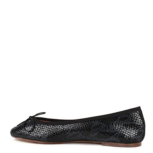 Flat Shoes Elia Black Stefania Python Black Print Ballet B 0x5xwqOg