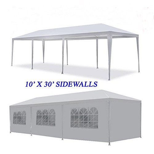 New Outdoor 10'x30' White Gazebo Canopy Wedding Party Tent 8 Removable Walls (Outdoor Furniture Settings Brisbane)