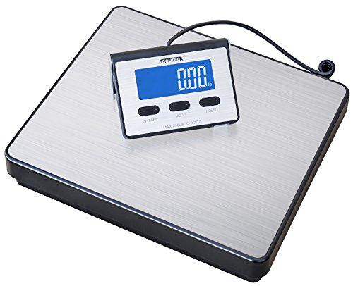 (Accuteck A-BC200 200LB x 0.2 OZ Digital Heavy Duty Shipping Postal Scale, Stainless Steel)