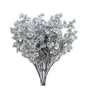 "17"" Baby's Breath Silver Silk Artificial Wedding Bridal Flower (Dozen) 108"