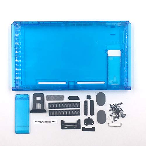 - Faceplate for Nintendo Switch NS Hard Housing Shell Front Faceplate Back Cover Case with Buttons Kit Replacement - Clear Blue