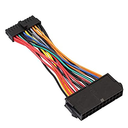 Connectors 14Cm ATX PSU Standard 24Pin Female to Mini 24P Male Internal Power Cable Wire for Dell 780 980 760 960 Pc - (Cable Length: 14Cm) Sukvas