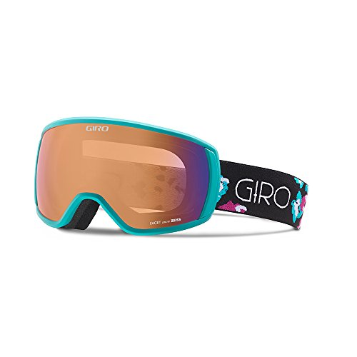 Giro Facet Women's Snow Goggles Turquoise/Berry Flowers - Persimmon Boost