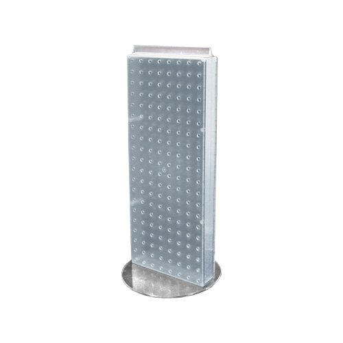 Azar 700509-CLR Non-Revolving Base Neon Pegboard Counter Unit, 8-Inch Weight by 20-Inch Height on 9-Inch, Clear ()