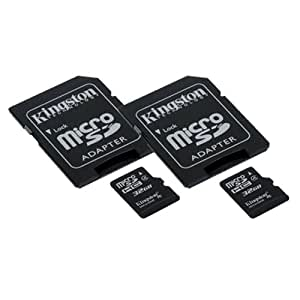 ZTE RAPIDO Cell Phone Memory Card 2 x 32GB microSDHC Memory Card with SD Adapter (2 Pack)
