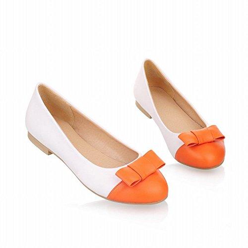 Carol Chaussures Casual Femmes Mignon Bowknots Manchette Mode Couleurs Assorties Doux Chaussures Chaussures Orange