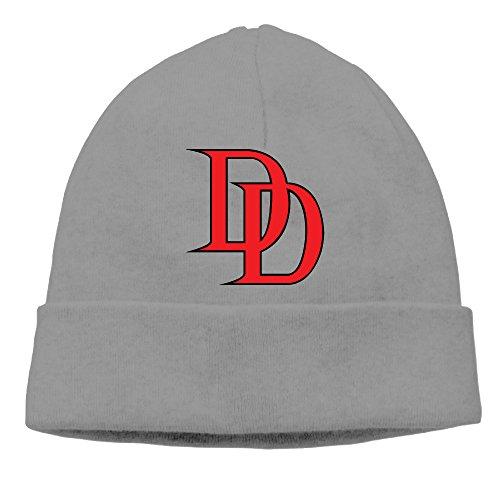 SBJML Adult Daredevil Logo Beanie Skully Cap Hat Watch Hat Ski Cap Hat DeepHeather