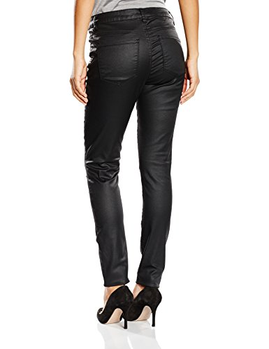 Vero Moda WP - VMSEVEN NW SSLIM Knee Cut Pant 10-Pantalones Mujer, negro