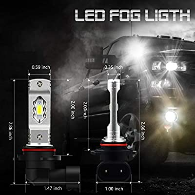 JDM ASTAR Extremely Bright High Power H10 9145 9140 9050 9155 LED Fog Light Bulbs, Xenon White: Automotive