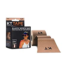KT Tape Kinesiology Tape, Original Cotton Elastic Therapeutic Tape, 16-Feet, Uncut Roll, Beige