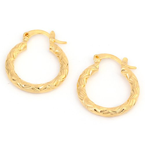 24k Golden Earrings (Cheap Golden Earrings Girls Dubai Gold Turkish Egyptian Algeria Indian Moroccan Saudi Gold Earrings)