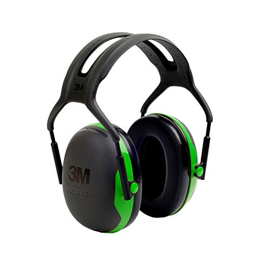 3M X1A Peltor Black and Green Model X1A/37270(AAD) Over-The-Head Hearing Conservation Earmuffs, English, 30.68 fl. oz, Plastic, 5.7'' x 4.5'' x 8.2'' by 3M