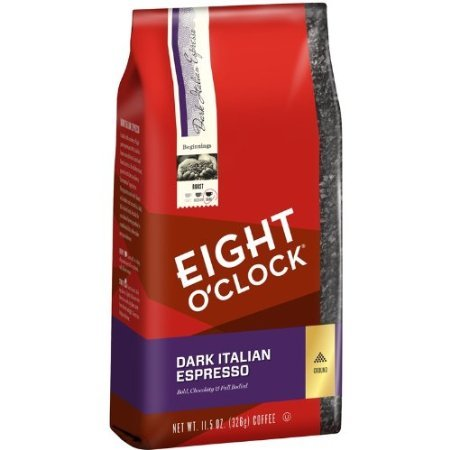 Eight O'Clock Dark Italian Espresso Ground Coffee, 11.5-Ounce Bags (Pack of 6) by SmileMore