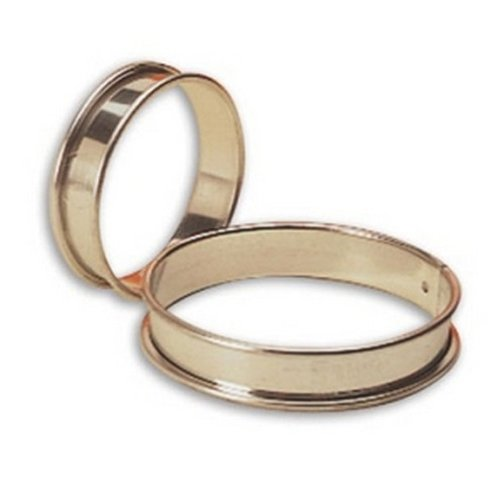 Matfer Bourgeat 371704 Small Flan Ring, Silver