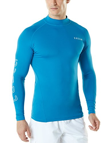 TM-MSR10-RYB_Large Tesla Men's UPF 50+ Long Sleeve Rashguard MS-R10