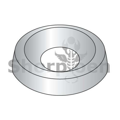 Countersunk Finishing Washer Nickel 1/4 (Box of 2500) weight6.18Lbs