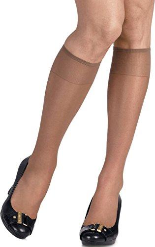 Hanes Womens Silk Reflections Sheer Knee Highs 2-Pack Jet