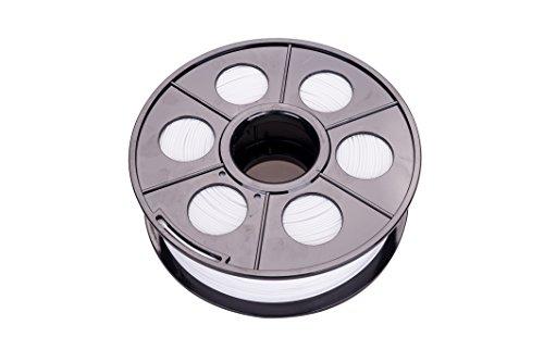Ectxo Filament PLA 1.75mm 1kg mit Spule / Rolle für 3D Drucker (Weiss)