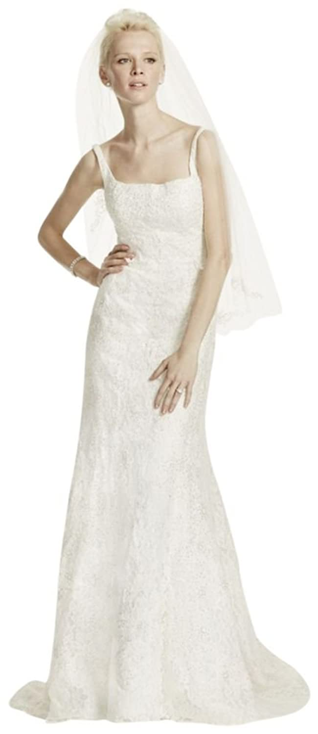 Davids Bridal Sample As Is Tank Lace Wedding Dress With Beading