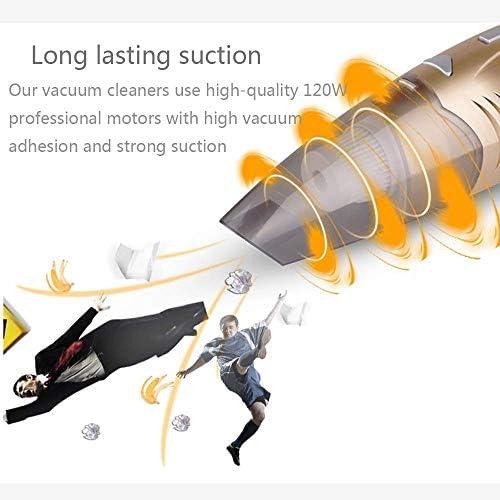 EAHKGmh Aspirateur à main 110W, Aspirateur de voiture portable multifonction sans fil, forte aspiration, Bin Visible Dust