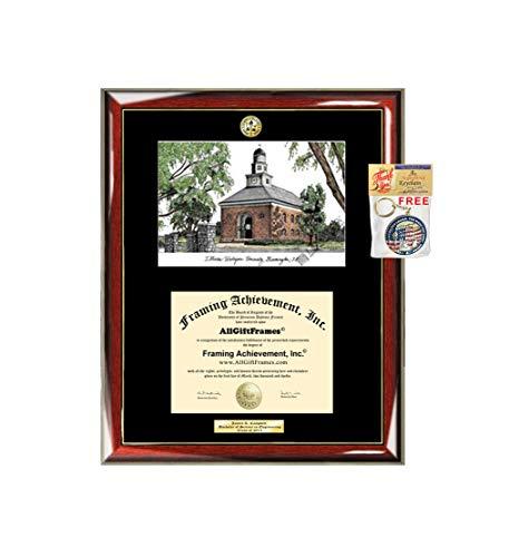 - AllGiftFrames Illinois Wesleyan University IWU Graduation Campus Image Sketch School Lithograph Major Logo Diploma Degree Display Engraved Graduate Idea Him Her Seal