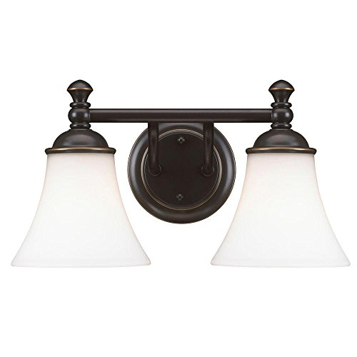Hampton Bay AD065-W2 2-Light Crawley Oil Rubbed Bronze Vanity Fixture