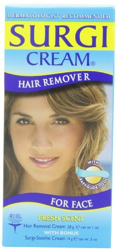 Surgi-cream Hair Remover For Face,  1-Ounce Tubes (Pack of ()