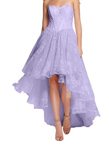 Cocktailkleider A Hi Damen Promkleider Lilac Charmant lo Partykleider Romantisch Abschlussballkleider Spite Abendkleider Linie Lang qwfwzx7pY