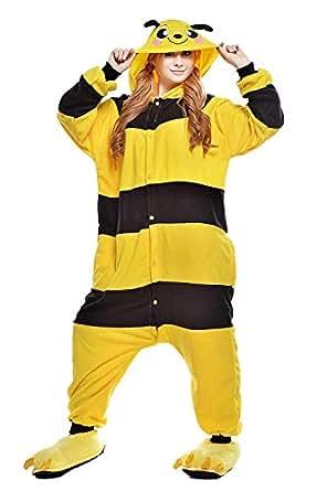 ABYED Kigurumi Pijamas Unisexo Adulto Cosplay Traje Disfraz Adulto Animal Pyjamas Ropa de Dormir Halloween y Navidad