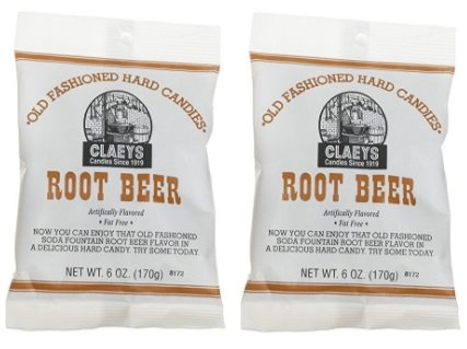 (Claey's, Old Fashioned Hard Candy Root Beer, 6 oz (2 Pack) )